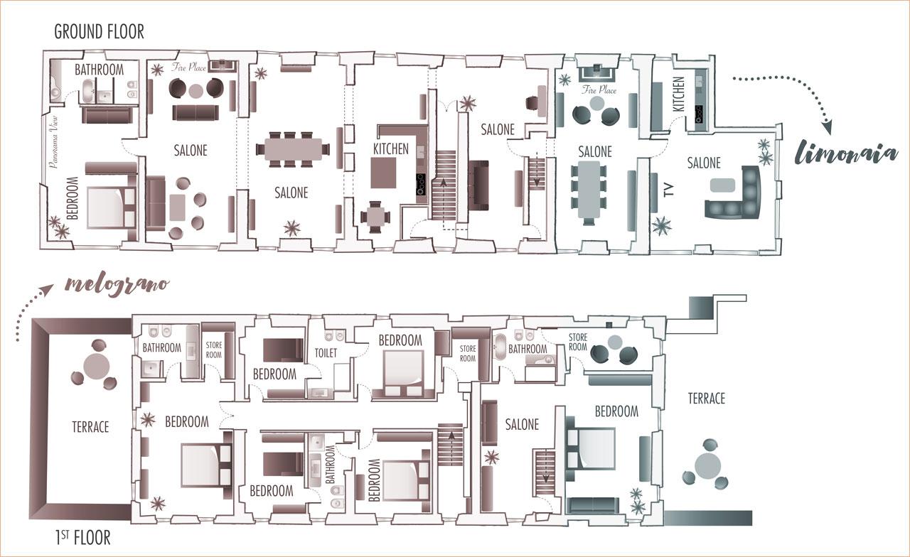 Villa Uliveto - Map Villa Uliveto Exclusive